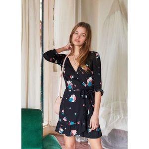 SÉZANE Elena Robe Wrap Mini Dress